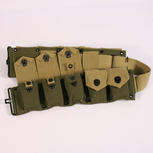 M1 Garand ammo belt Green and Tan 151215 2.JPG