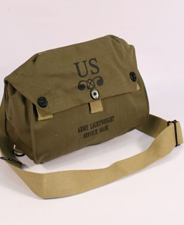 US M6 Lightweight gas mask bag for M4 gas mask. Green