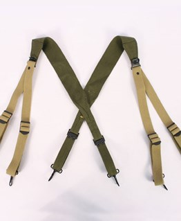 US M1936 Suspenders in Transitional Green and Tan