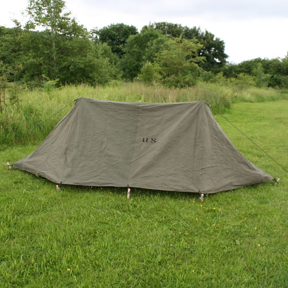 1943 Pup Tent 2 x US Army WW2 Shelter Halves with Buttons & Kay Canvas